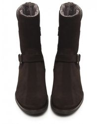 Jules B - Brown Shearling Lined Suede Boots for Men - Lyst