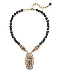 Heidi Daus - Black Eternal Beauty Jeweled Pendant Bead Necklace - Lyst