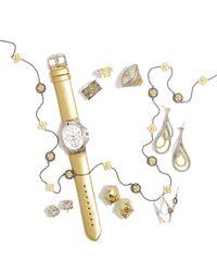 Freida Rothman - Green Alternating Clover Long Chain Necklace - Lyst