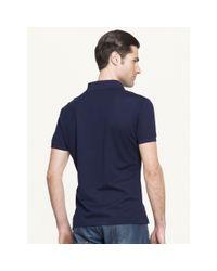 Ralph Lauren Black Label | Blue Mesh Zip Collar Polo Shirt for Men | Lyst