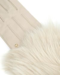 Ted Baker - White Faux Fur Trimmed Gloves - Lyst
