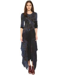 Raquel Allegra - Black Long Sleeve Handkerchief Dress - Lyst