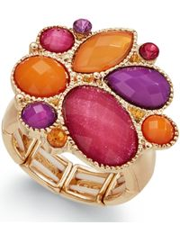 Style & Co. | Metallic Gold-tone Multicolor Bold Stone Ring | Lyst