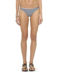 Mikoh Swimwear | Black Miyako Basic Skimpy Bikini Bottoms - Swell Lines | Lyst