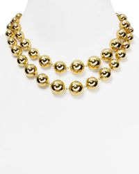 Lauren by Ralph Lauren | Metallic Beaded Delight Graduated Necklace 34 | Lyst