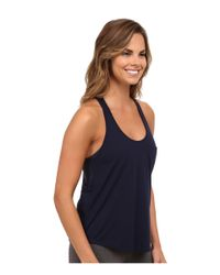 Alo Yoga - Blue Extreme Racer Tank Top - Lyst