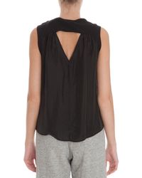 CLU - Black Contrasted Tank Top - Lyst