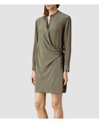 AllSaints - Natural Nicola Dress - Lyst