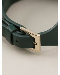 Valentino - Green Rockstud Bracelet - Lyst