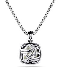 David Yurman | Metallic Albion Pendant With Prasiolite & Diamonds | Lyst