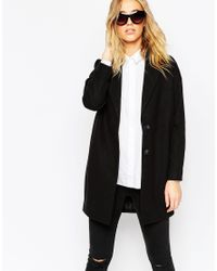 ASOS | Ultimate Cocoon Coat - Black | Lyst