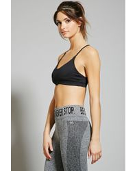 Forever 21 - Black Low Impact - Strappy Sports Bra - Lyst