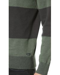 RVCA | Black Block Plate Crew Sweater for Men | Lyst