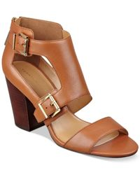 Tommy Hilfiger | Brown Kalinda Taylored Mid-heel Sandals | Lyst