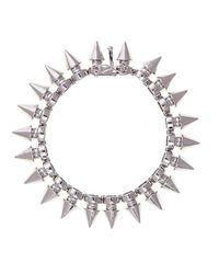 Noir Jewelry | Metallic Tobi Tree Spike Bracelet | Lyst