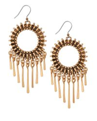 Lucky Brand | Metallic Gold-Tone Circle Statement Earrings | Lyst