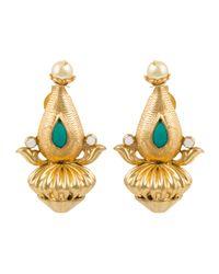 Kastur Jewels - Metallic Heritage Dome Earrings - Lyst
