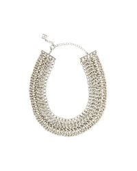 BCBGMAXAZRIA - Metallic Wovenchain Spike Necklace - Lyst