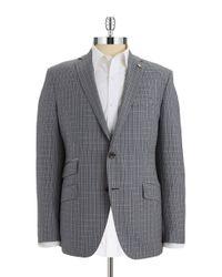 Ted Baker | Gray Checkered Wool Blazer for Men | Lyst