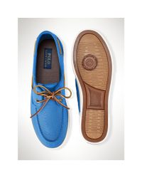 Polo Ralph Lauren - Blue Canvas Sander Sneaker for Men - Lyst