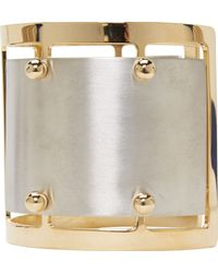 Caterina Zangrando | Metallic Silver And Brass Studded Elisa Cuff | Lyst