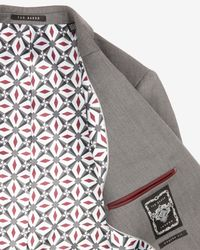 Ted Baker - Gray Wool Blazer for Men - Lyst