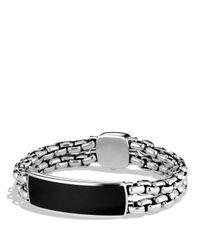 David Yurman | Metallic Exotic Stone Wide Id Bracelet with Black Onyx for Men | Lyst