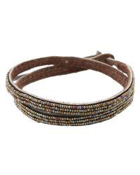 Chan Luu - Brown Triple Wrap Seed Bracelet - Lyst