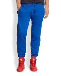 Y-3 - Blue Tapered Sweatpants for Men - Lyst