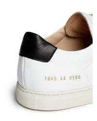 Common Projects | White 'achilles Retro' Nappa Leather Sneakers | Lyst
