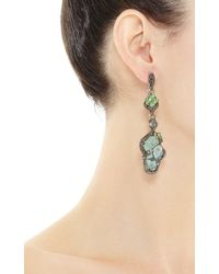 Wendy Yue | Green One Of A Kind Organic Opal Chandelier Earrings | Lyst