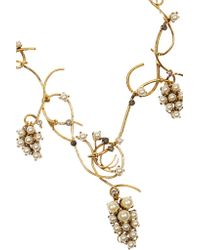 Erickson Beamon - Metallic Grapes Of Wrath Gold-plated, Swarovski Crystal And Faux Pearl Necklace - Lyst