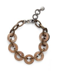 Pono | Metallic Resin Choker Necklace - Bronze | Lyst