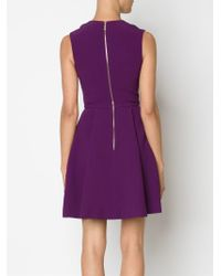 Elie Saab - Purple Embellished Flared Dress - Lyst