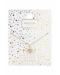TOPSHOP | Metallic Gold Plated Star Ditsy Necklace | Lyst