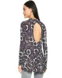 Free People | Purple Anabelle Printed Tunic - Plum Combo | Lyst