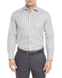 David Donahue - Multicolor Regular Fit Check Twill Sport Shirt for Men - Lyst