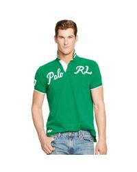Polo Ralph Lauren - Green Custom-fit Mesh Polo Shirt for Men - Lyst