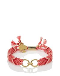 kate spade new york - Pink On Purpose Patterned Charm Bracelet - Lyst
