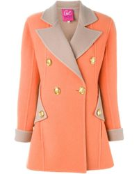 Christian Lacroix - Pink Double Breast Coat - Lyst
