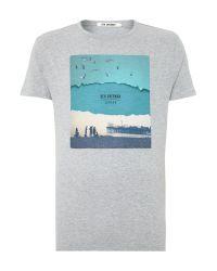 Ben Sherman - Gray Brighton Print Crew Neck Regular Fit T-shirt for Men - Lyst