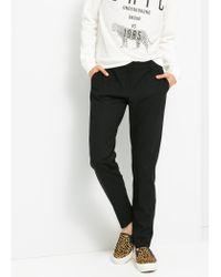 Mango - Black Slim-Fit Suit Trousers - Lyst