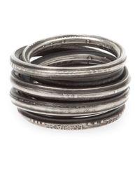 Werkstatt:münchen | Metallic 'm197' Ring for Men | Lyst