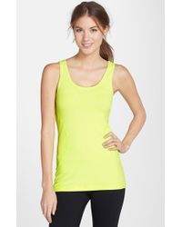 Zella | Yellow 'double Scoop - Ocean' Tank | Lyst