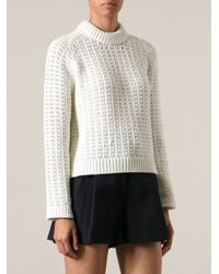 3.1 Phillip Lim - White Chunky Knit Sweater - Lyst