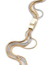 Trina Turk - Metallic Long Snake Multi Chain Necklace - Lyst