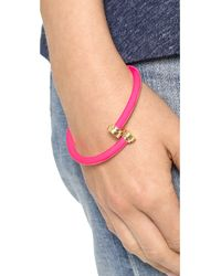 Marc By Marc Jacobs - Pink Rubberized Tubular Bangle Bracelet Black - Lyst