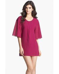 Dress the Population | Purple 'brooklyn' Crepe Shift Dress | Lyst