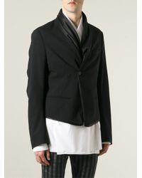 Haider Ackermann | Black Shawl Detail Blazer for Men | Lyst