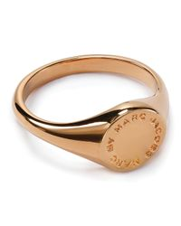 Marc By Marc Jacobs - Metallic Logo Disc Signet Ring - Lyst